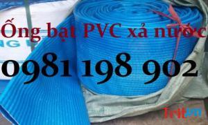 Ống bạt nhựa PVC cốt dù xả nước, xả cát có gân phi 150, phi 200mm