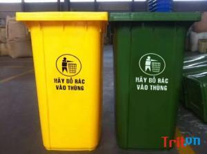 Phân phối thùng đựng rác 120 lít quận 1 tphcm - Hoài Thanh 0913 819 238