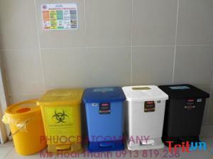 Cc thùng rác y tế 15 lít - Thùng rác y tế tp hcm - quận 7 tphcm