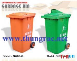 Thùng rác công cộng 240 lít giá rẻ | quận 7