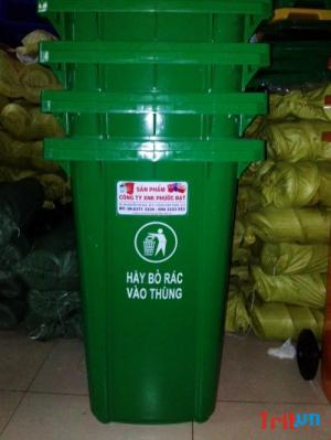 Thùng rác nhựa công nghiệp, thùng rác gia đình giá rẻ tại Hóc Môn