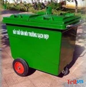 Bán thùng rác composite 660l 4 bánh xe - Giao hàng miễn phí