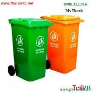 Giảm giá thùng rác nhựa 240 lit có nắp kín và bánh xe - Ms Thanh 0913 819 238