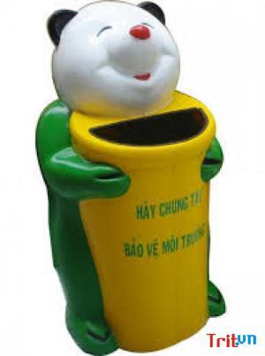Sản xuất thùng rác chim cánh cụt cho trường học- giao hàng Tận nơi