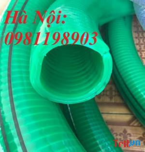 Ống nhựa  lõi thép màu xanh hút nước thải