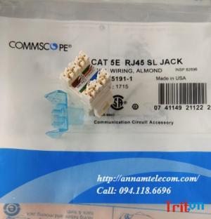 Phân phối nhân mạng CommScope AMP Cat5E mã 1375191-1, Cat6 mã 1375055-1 chân đồng 100% có sẵn hàng