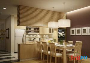 Phòng bếp được thiết kế nội thất theo xu hướng hiện đại 2019