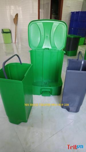 Bán thùng rác 2 ngăn dùng phân loại rác thải tại nguồn – Ms Thanh 0913 819 238