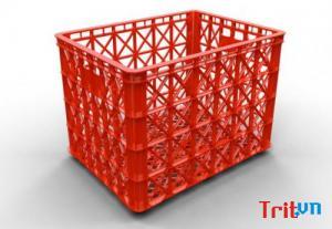Giá sóng nhựa công nghiệp có bánh xe - sóng nhựa 5 bánh xe - 8 bánh xe