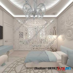 Công trình vách ngăn trang trí phòng bếp cnc đẹp tại Chung Cư Tara