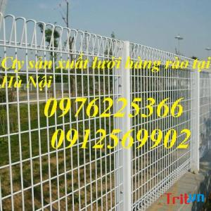 Hàng rào gập hai đầu, hàng rào sơn tĩnh điện