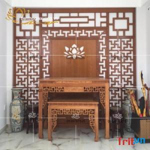 Miễn phí tư vấn thiết kế vách ngăn phòng thờ đẹp tại TPHCM